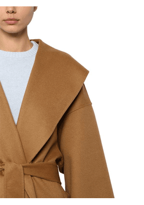 Belted Wool & Cashmere Cloth Coat