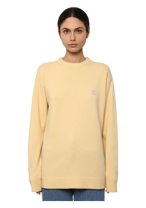 Anagram Embroidered Logo Knit Sweater