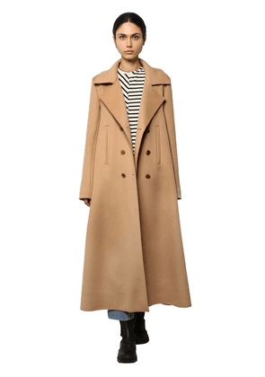 Double Breast Swing Cashmere Cloth Coat