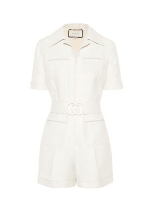 Wool and silk playsuit