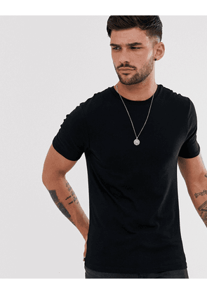 River Island muscle fit crew neck t-shirt in black