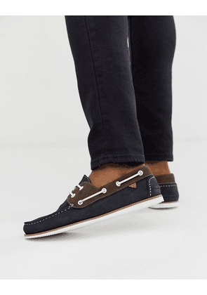 River Island boat shoes in navy