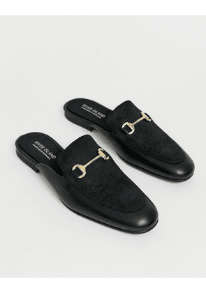 River Island backless loafers in black