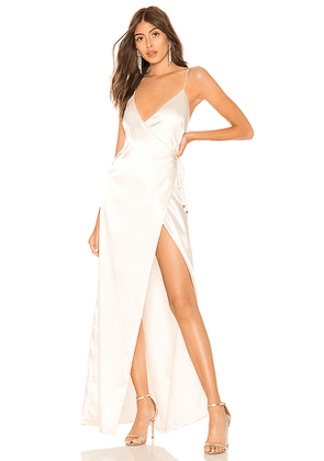 About Us Coco High Slit Maxi Dress in Ivory. Size M,L.