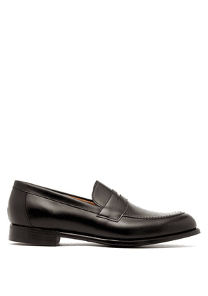 Cheaney - Hadley Leather Penny Loafers - Mens - Black