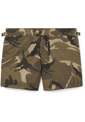 TOM FORD - Slim-fit Short-length Camouflage-print Swim Shorts - Green