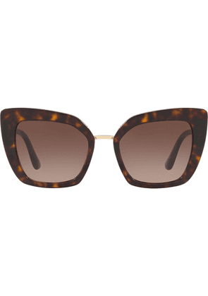 Dolce & Gabbana Eyewear cate eye sunglasses - Brown