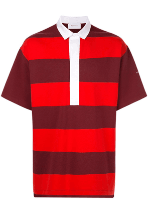Ports V oversized striped polo shirt - Red