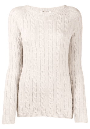 'S Max Mara cable knit sweater - Neutrals