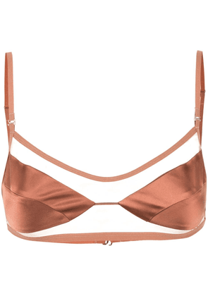 Dion Lee trace float bra - Brown