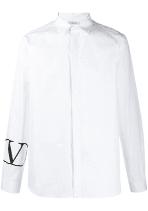 Valentino small printed Vlogo shirt - White