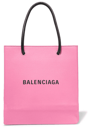 Balenciaga - Xxs Printed Textured-leather Tote - Pink