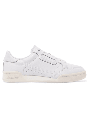 adidas Originals - Continental 80 Grosgrain-trimmed Textured-leather Sneakers - White