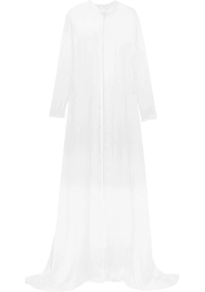 Temperley London - Bellflower Crystal-embellished Silk-chiffon Cape - White