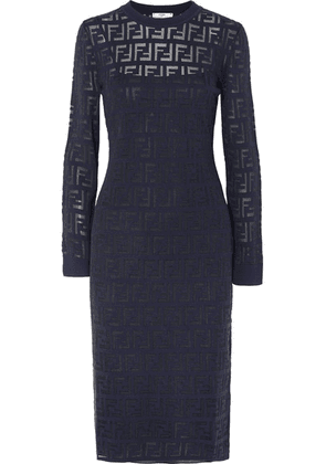 Fendi - Intarsia-knit Midi Dress - Navy