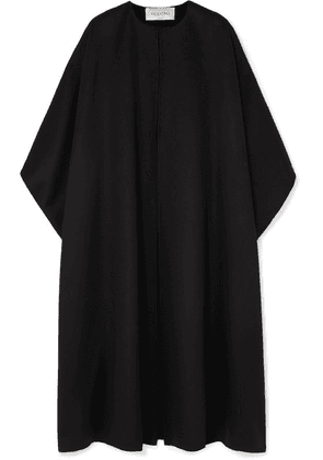 Valentino - Wool And Cashmere-blend Cape - Black