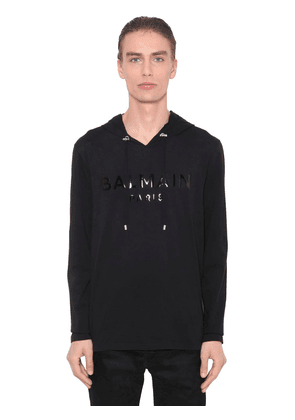 Hooded L/s Cotton Jersey T-shirt