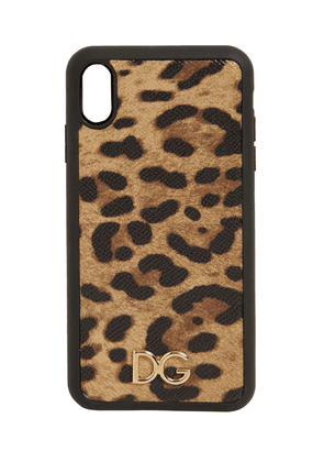Leopard Print Leather Iphone Xs Max Case