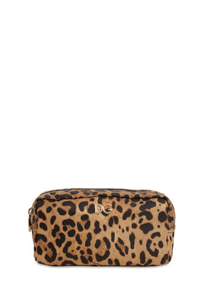 Leopard Print Nylon Make-up Bag