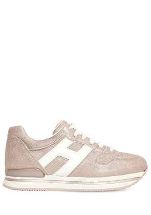 45mm H222 Lamè Leather Sneakers