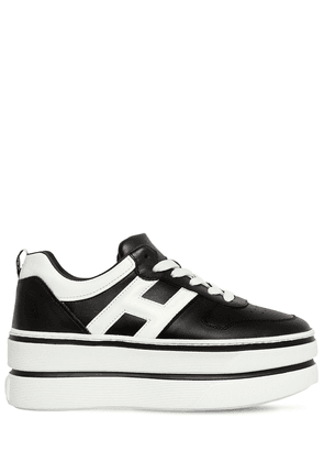 70mm Maxi Double Leather Sneakers