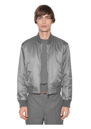 Nylon Down Bomber Jacket