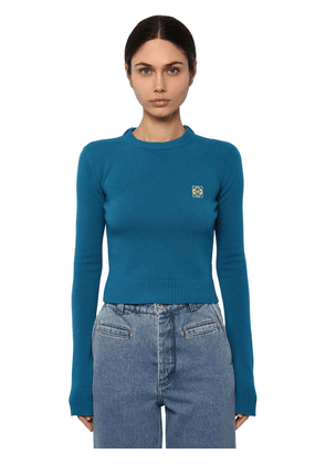 Crop Anagram Embroidery Logo Sweater