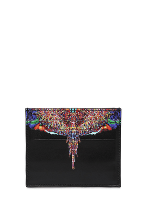 Printed Wings Leather Card Holder