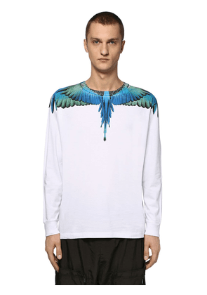 Printed Wings Cotton Jersey Ls T-shirt