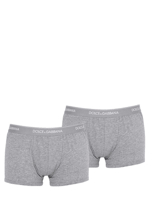 Pack Of 2 Logo Cotton Boxer Briefs