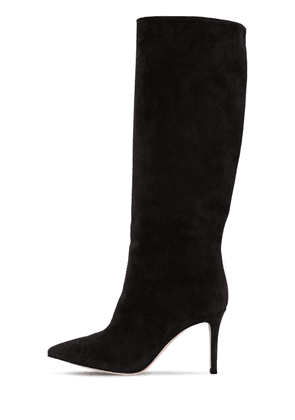 85mm Tall Suede Boots