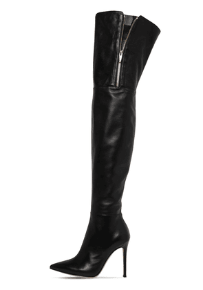 105mm Over-the-knee Leather Boots