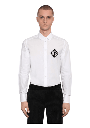 Cotton Shirt W/ Logo Patch On Breast