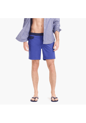 7' stretch eco pool short with contrast waist