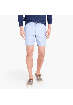 7' oxford short in blue