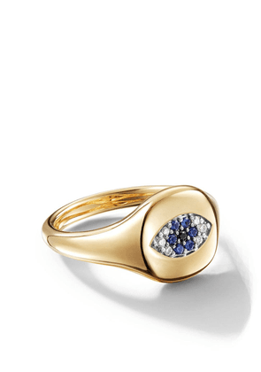David Yurman 18kt yellow gold Cable Collectibles Evil Eye sapphire and