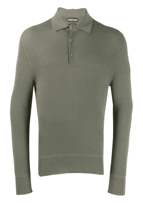 Tom Ford textured fitted polo shirt - Green