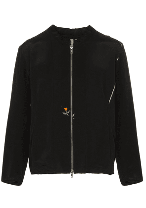 By Walid floral embroidered bomber jacket - Black