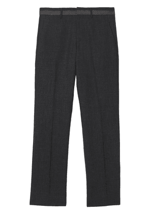 Burberry Classic Fit Wool Tailored Trousers - Grey