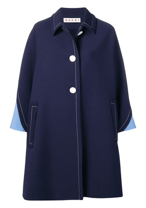 Marni loose fit trench coat - Blue