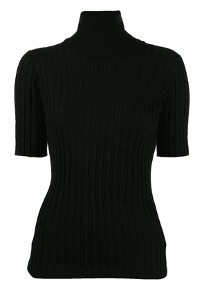 Bottega Veneta roll-neck short sleeve sweater - Black