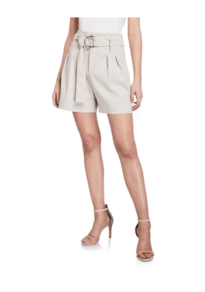 Genna High-Waist Belted Shorts