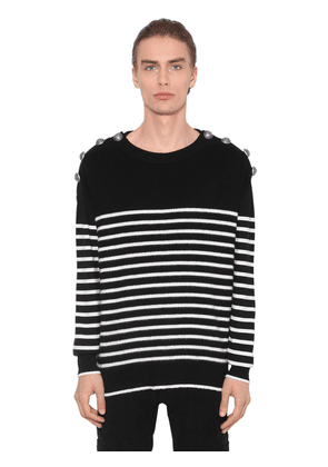 Virgin Wool Knit Sailor Sweater