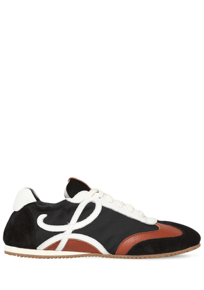 10mm Nylon & Suede Sneakers