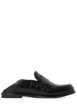 20mm Embossed Croc Loafers