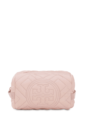 Quilted Nylon Cosmetic Case