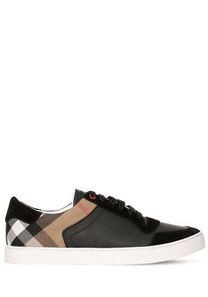 Newport Check Canvas & Leather Sneakers