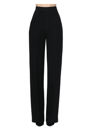 High Waist Wool Blend Palazzo Pants