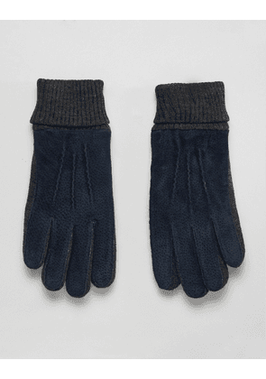 Dents Kendal suede gloves with knitted cuff