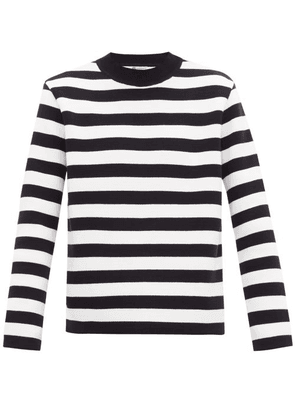 Connolly - Striped Cotton Deck Sweater - Mens - Navy White